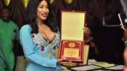 Tonto Dikeh steps out looking fabulous as she bags Peace Ambassador award
