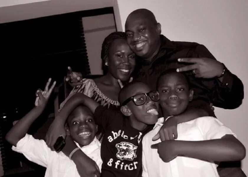 Fela Durotoye with his family