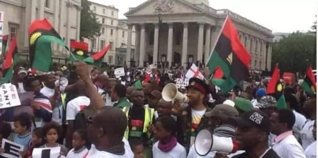 Some IPOB members during one of their protests