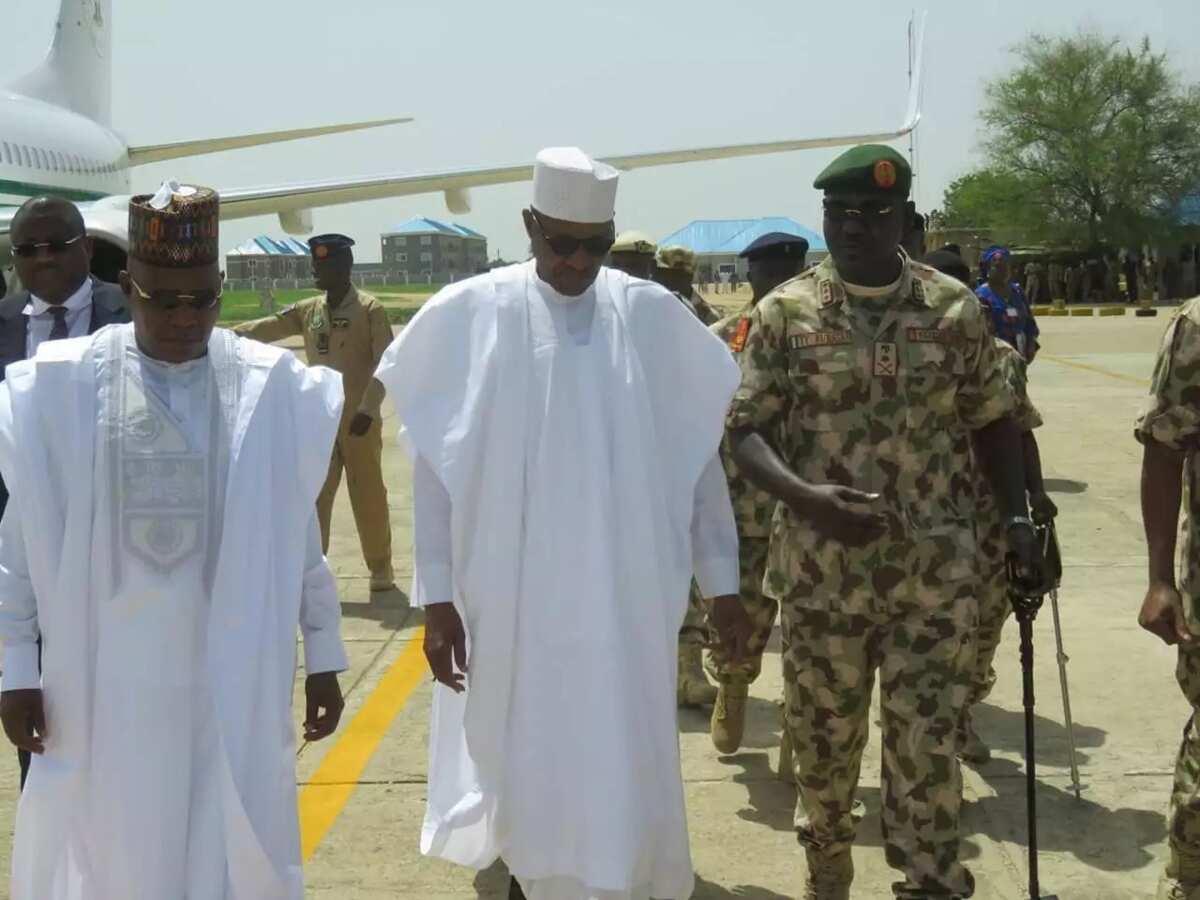 Da duminsa: Shugaba Buhari ya dira jihar Borno