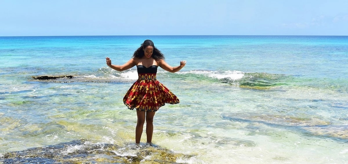 Ankara skirt and top for beach party