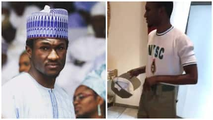 Shortly after Davido goes to camp, Yusuf Buhari undergoes NYSC in Abuja (photo)