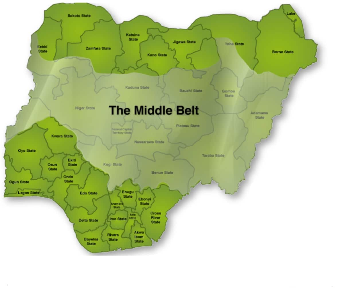 List of Middle Belt states in Nigeria ▷ Legit.ng