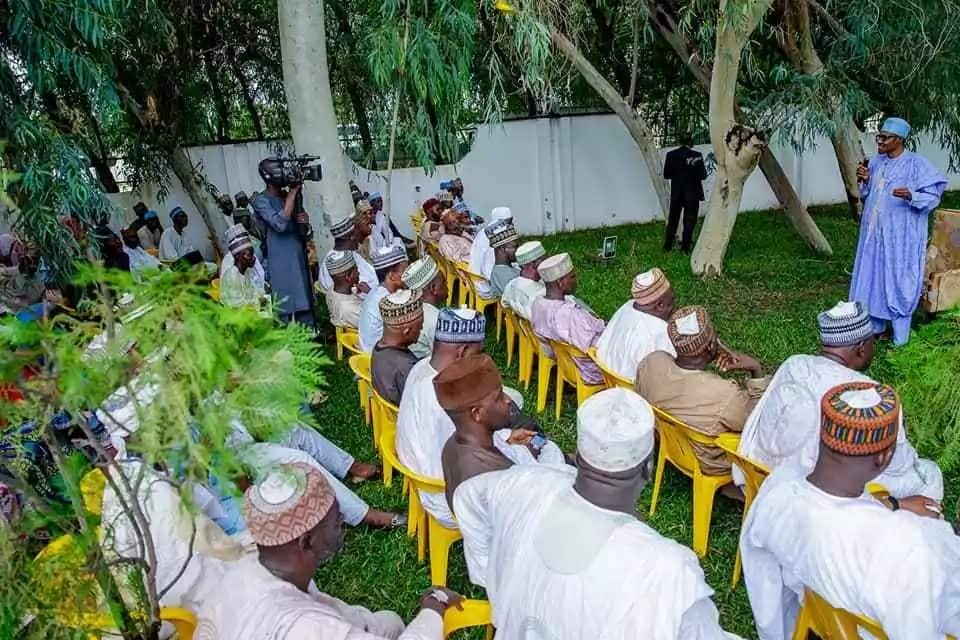 President Buhari receives former classmates, CAN members, others in Daura (photos)