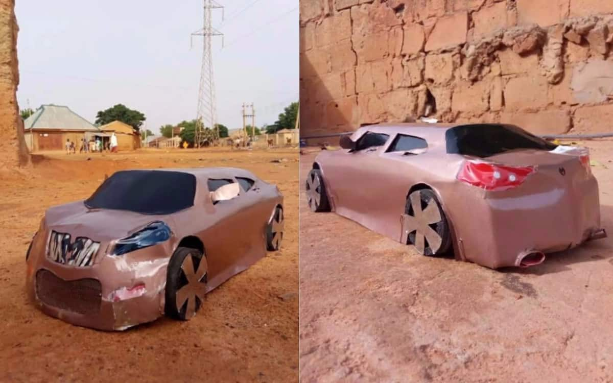 Talented Nigerian man constructs cars in Kebbi state