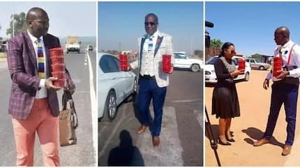 Lady shares story of South African man whose street hawking business has grown due to a strategy he is using