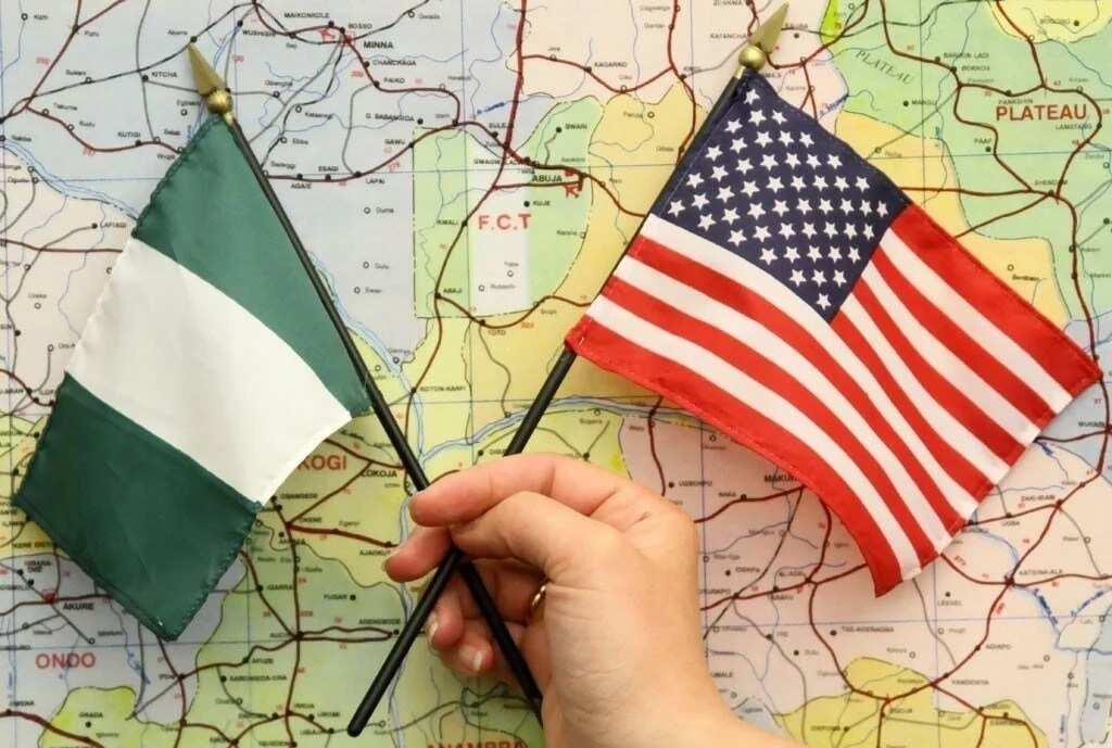 USA and Nigeria flags