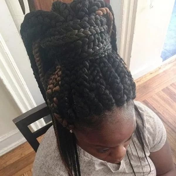 How to style big box braids