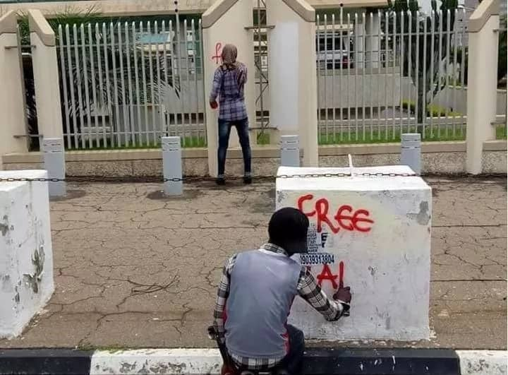 Protesting El-Zakzaky supporters deface Justice ministry (photos)