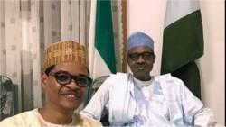 President Buhari hosts comic actor MC Tagwaye who looks like him at his hometown