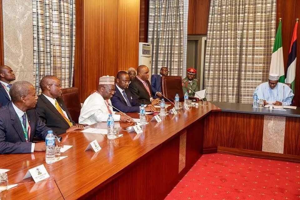 Shugabannin bankin kasuwancin Afrika sun ziyarci Buhari, duba hotuna