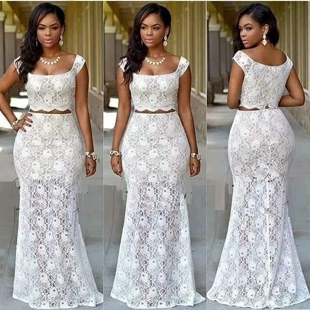 Bella Naija cord lace gown styles 2017