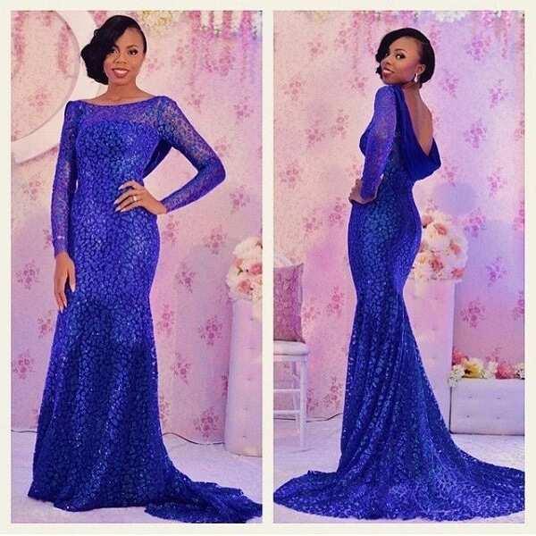 royal blue lace