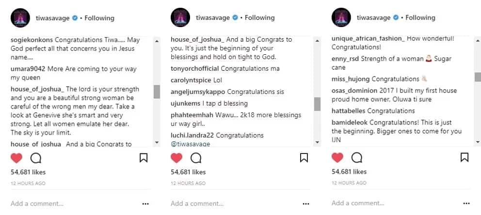 Tiwa Savage recounts God's blessings in 2017 as she buys new