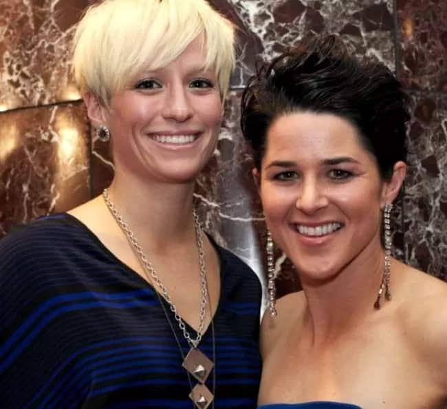 Four female footballers who are lesbians