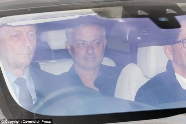 Jose Mourinho arrives Manchester United training ahead of Burnley tie