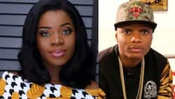 Wizkid's baby mama Shola comes to his rescue (photos)