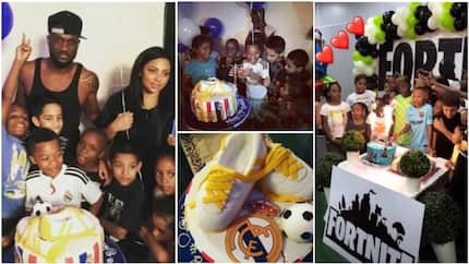 Most adorable photos from 10th birthday party of Peter Okoye's son Cameron
