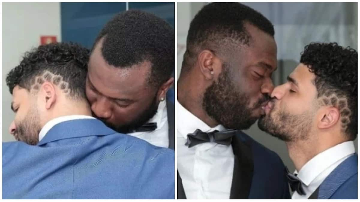 Wedding photos of a Nigerian man and his Brazilian fiancé in the UK