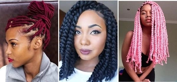 Hairstyles with Brazilian wool