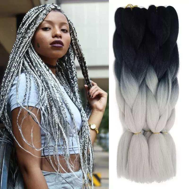 Kanekalon braids