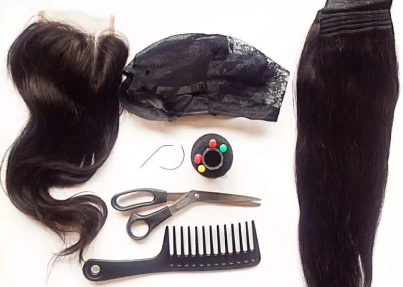 Things you need to make wig with closure