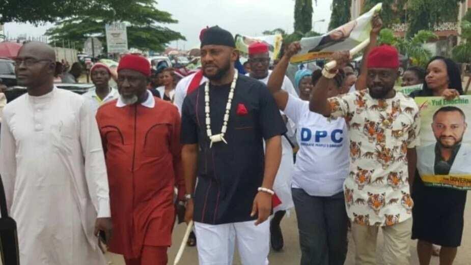 Nollywood actor Yul Edochie, picks Anambra governorship nomination form (photos)