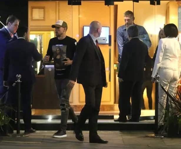Arsenal star enjoy night out at a London public building