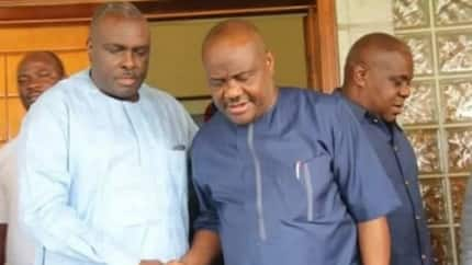 James Ibori sends strong message to south-south governors as Wike visits him in Delta state (photos)