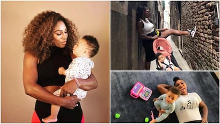 7 lovely photos of Serena Williams and her cute daughter Olympia