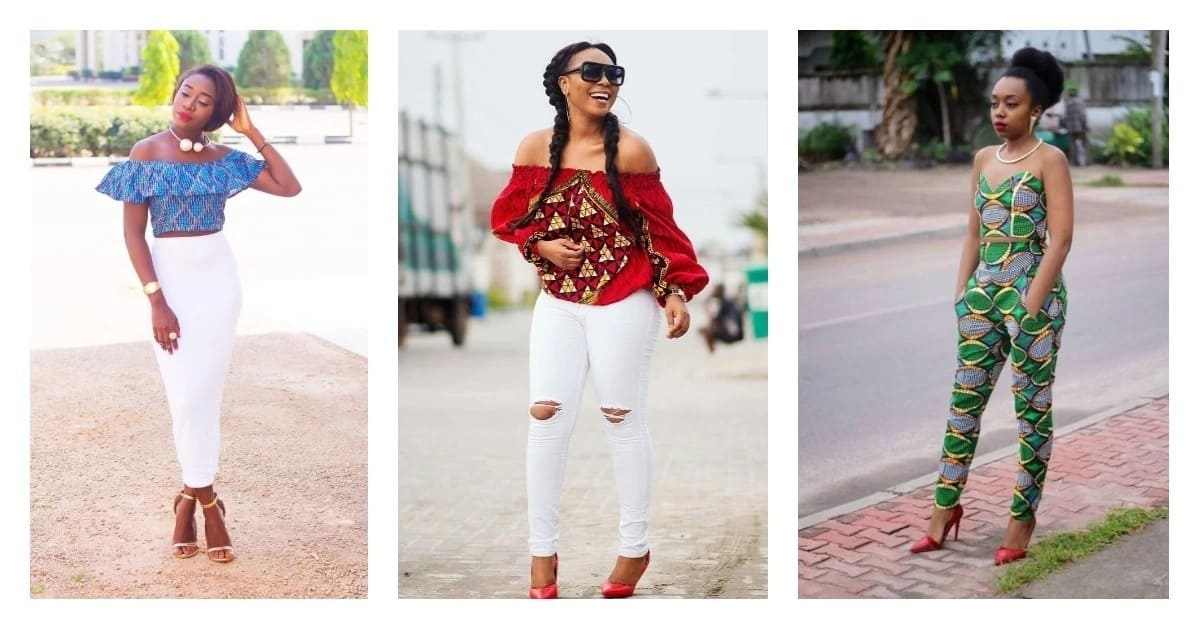 Cold shoulder Ankara tops: Best designs in 2018
