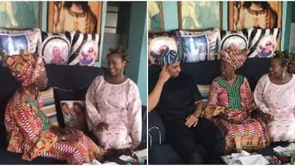 DJ Cuppy and her brothers share bonding time with grandma in their hometown, Epe (photos)