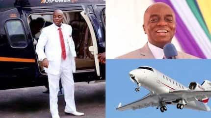 Bishop Oyedepo reportedly announces the purchase of church's brand new aircraft