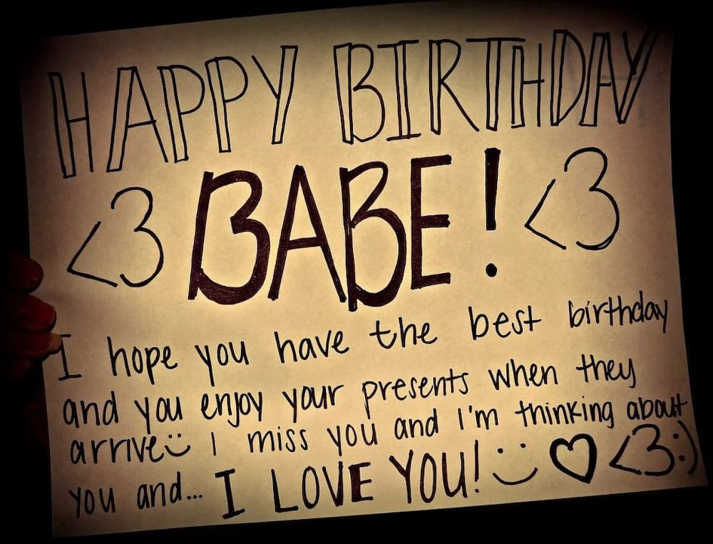Romantic birthday message for girlfriend - Top 5