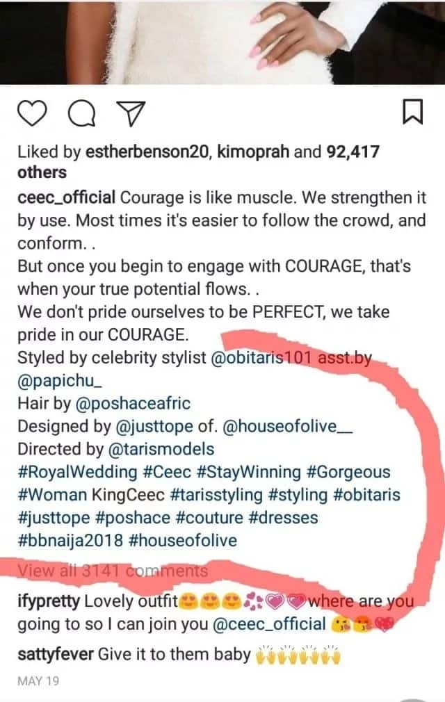 Celebrity photographer cries out after Cee-c posted her pictures without crediting his works