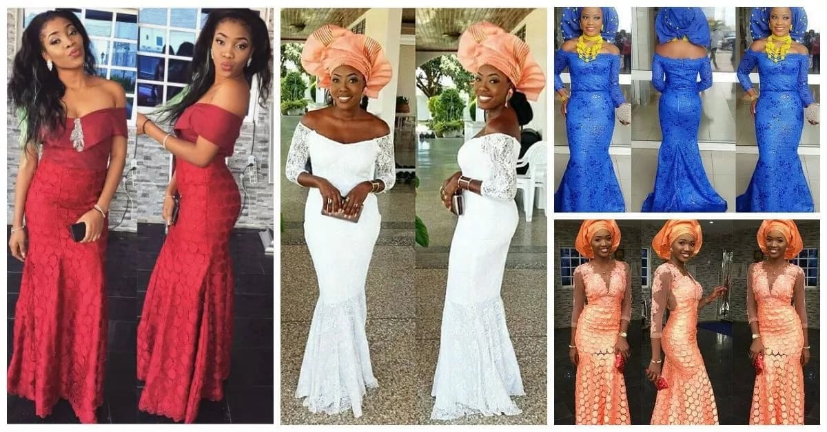 Aso Ebi styles with various necklines