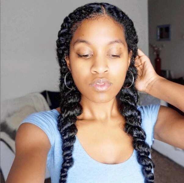 Sade Adu braids hairstyle