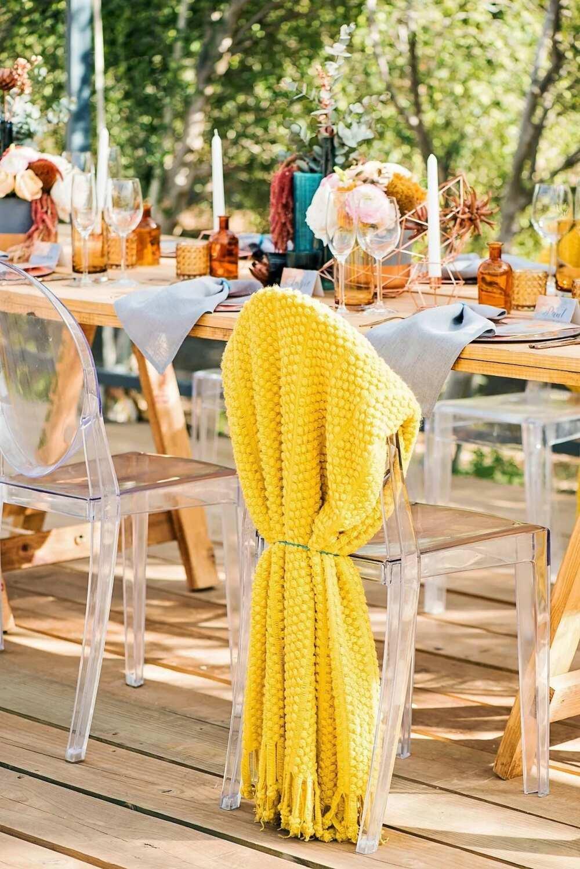 Juicy yellow for wedding decor