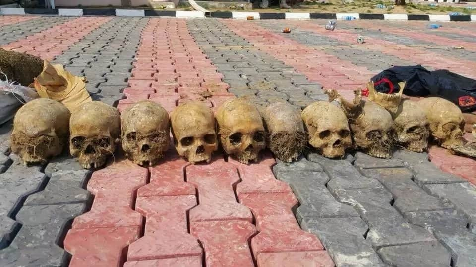 The troops recovered human skulls from the shrine. Photo source: SK Usman