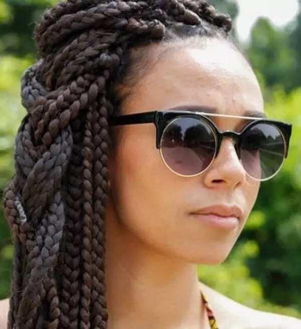 Side jumbo box braids