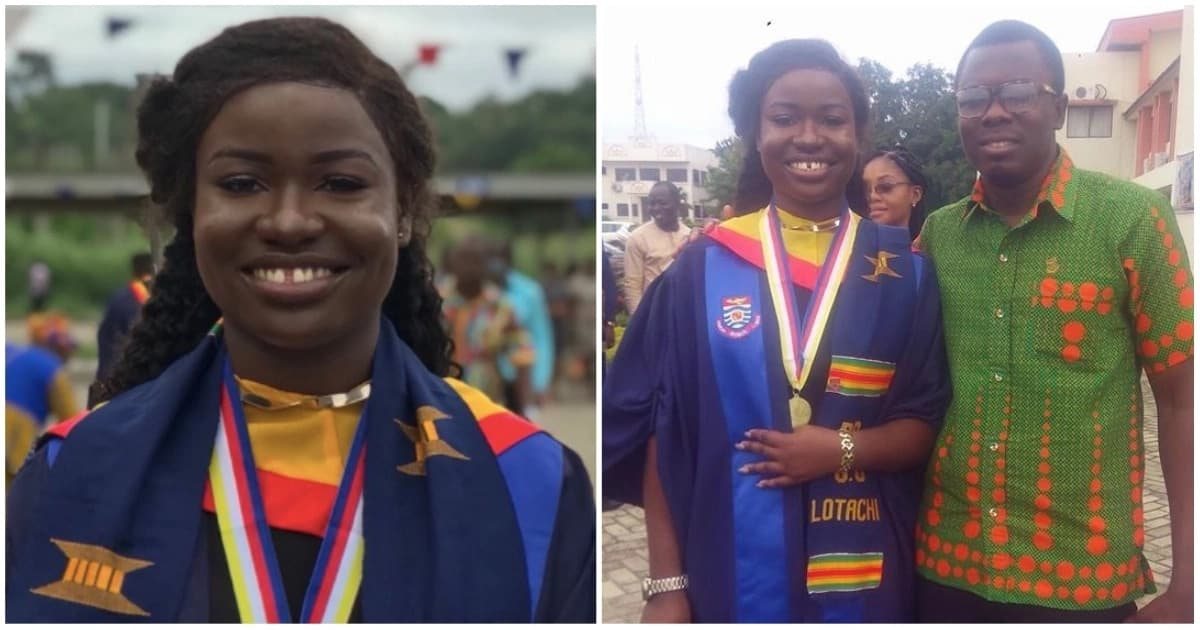 Nigerian lady graduates from UCC medical school in style; sweeps 15 out of 21 awards