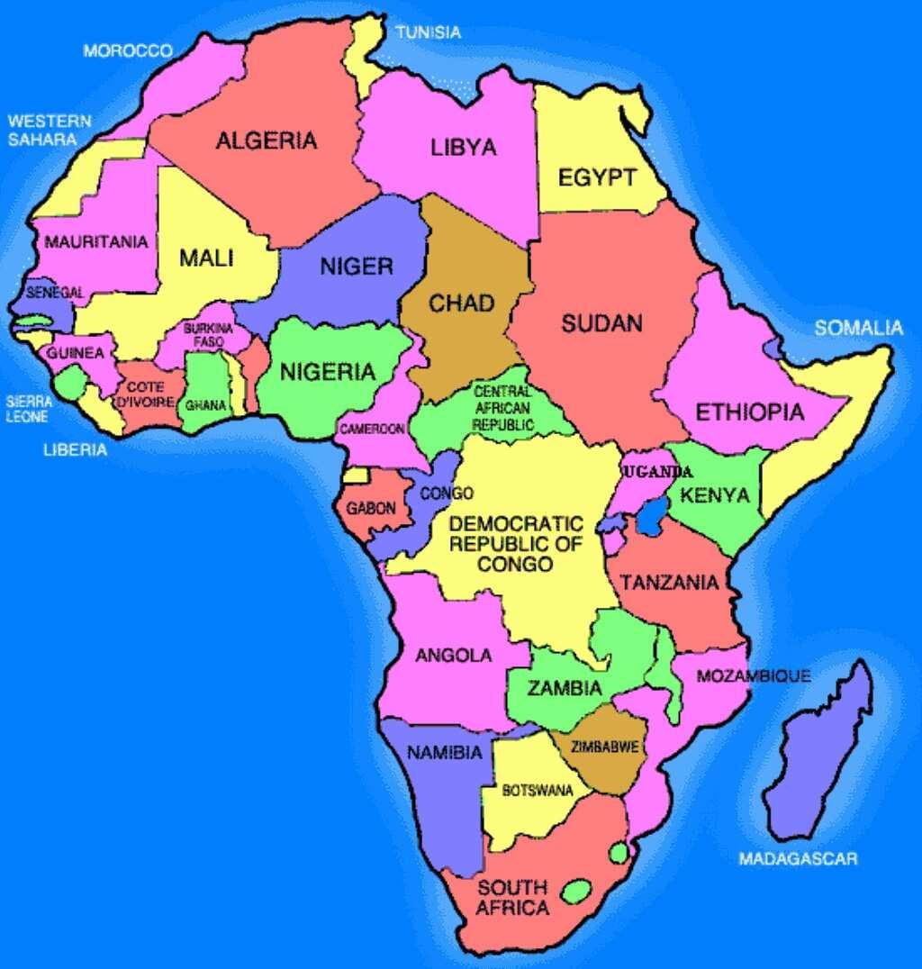 Current Africa Map | Jackenjuul