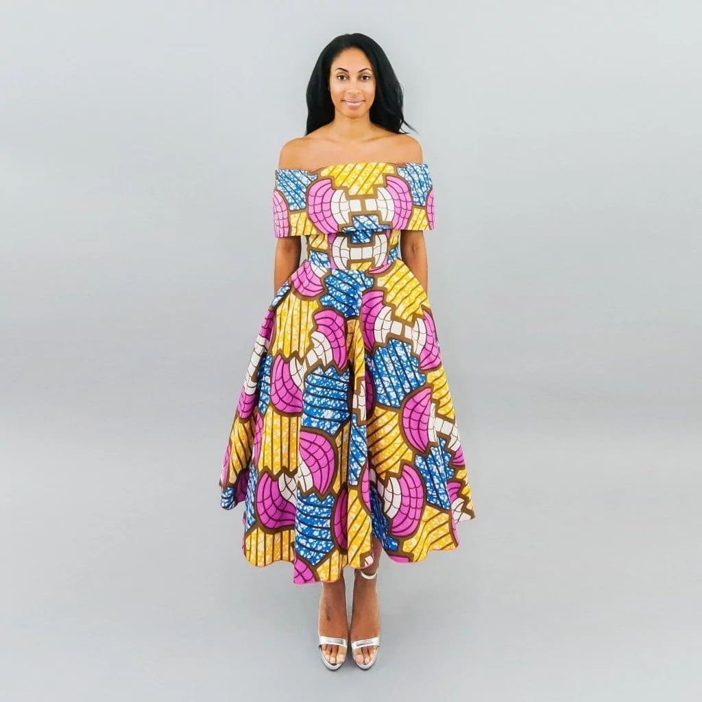Ankara gowns 2017 with open shoulders
