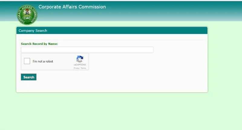CAC public search page