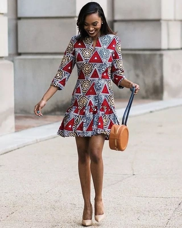 A beauty in casual ankara gown