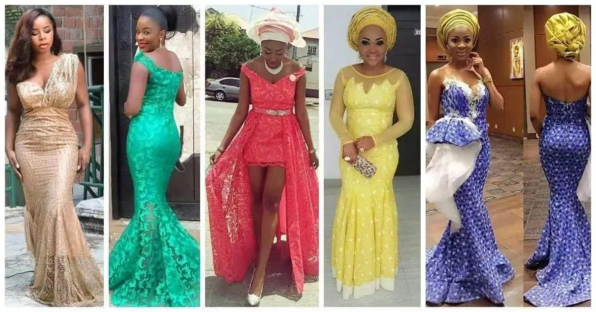 0ddb1d91d3e Nigerian lace dress styles in 2018 ▷ Legit.ng