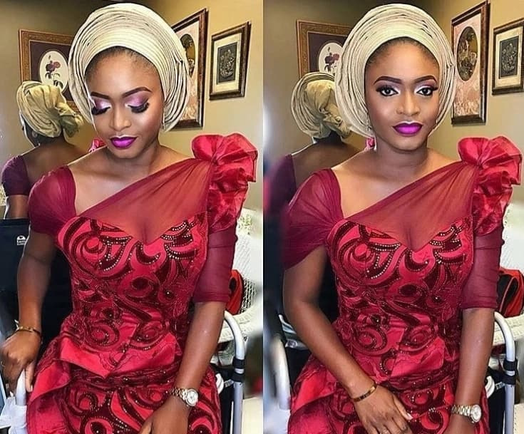 cf00caa20f5 Wow! Check Out Colorful Aso Ebi Lace Styles For Fashionistas – Daily ...