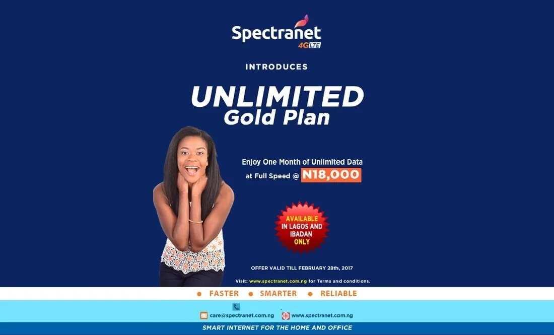 Spectranet Unlimited Gold Plan