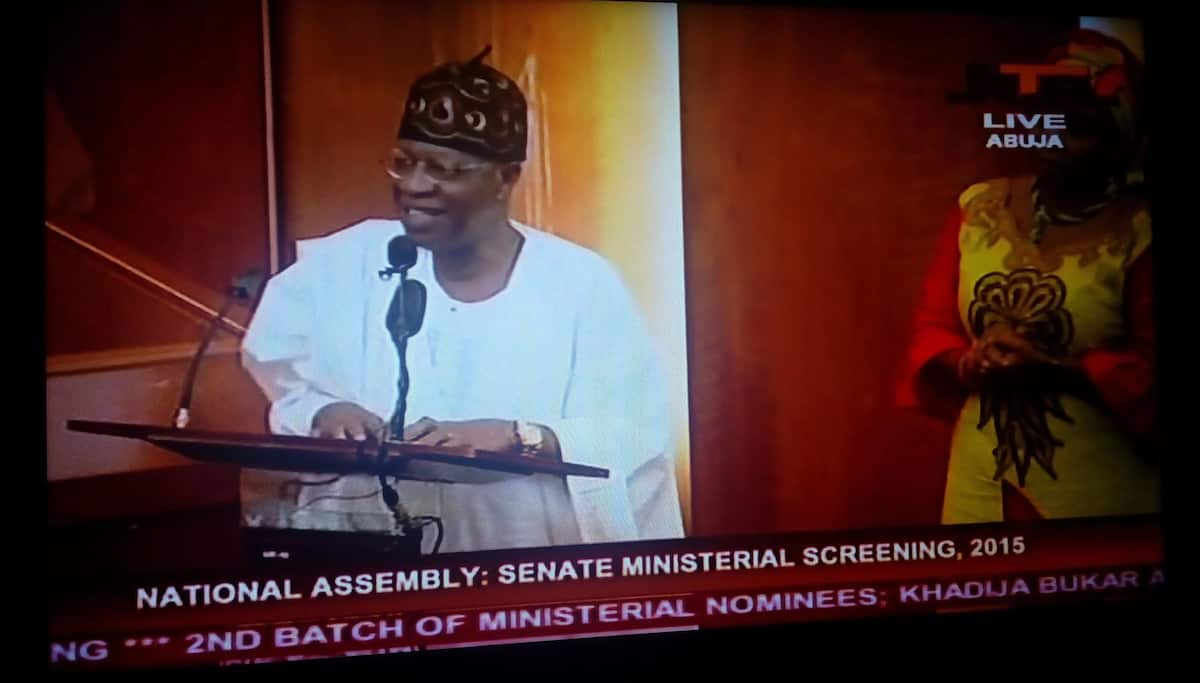 Ministerial Screening: How Senate Booed Lai Mohammed