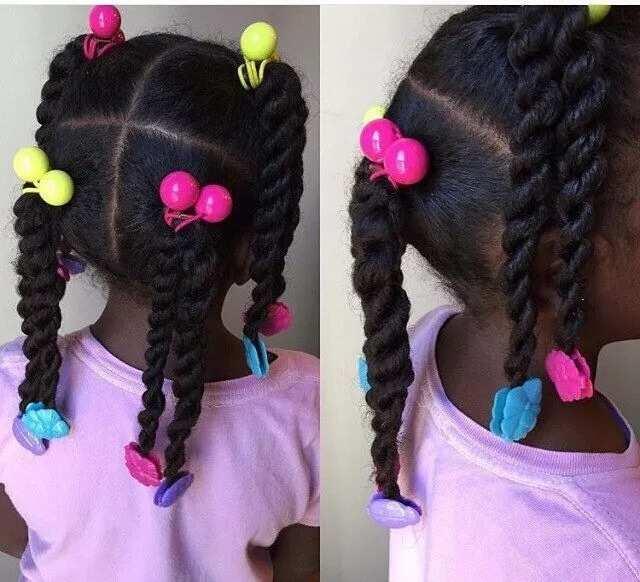 Natural pigtails